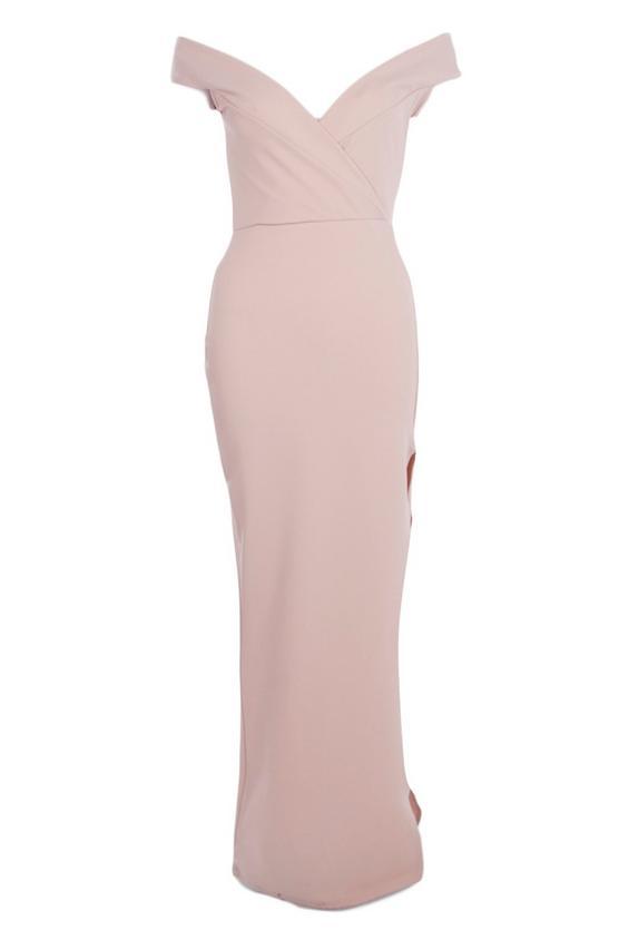 boohoo.com Amie Wrap Top Off Shoulder Maxi Dress €27