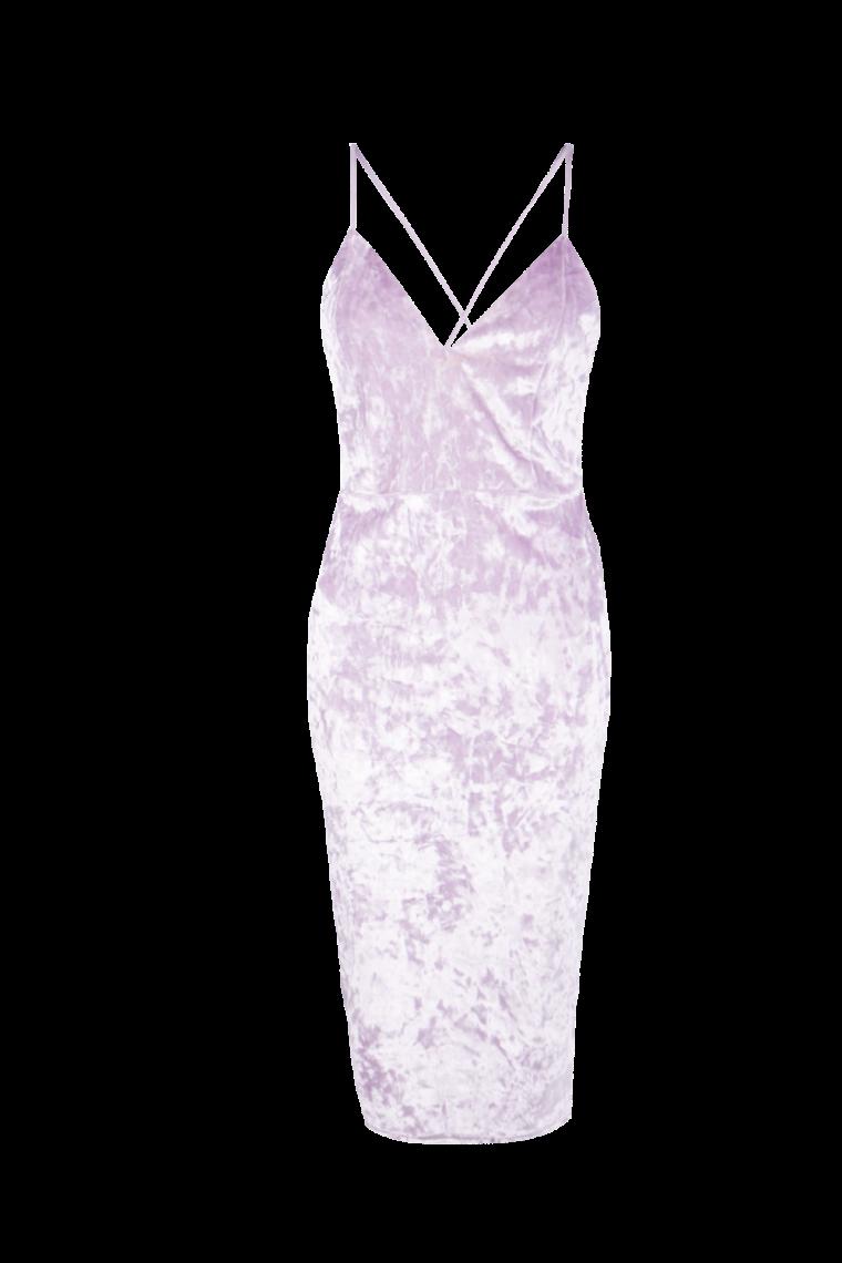 boohoo.com Emzy Crushed Velvet Midi Bodycon Dress €23
