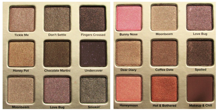 Too faced colour combos